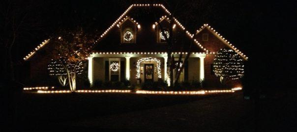 we install christmas lights